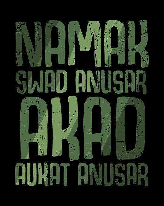 Shop Akad Aukat Anusar Full Sleeve T-Shirt