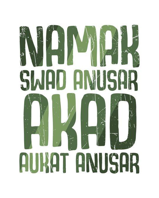 Shop Akad Aukat Anusar Round Neck 3/4th Sleeve T-Shirt