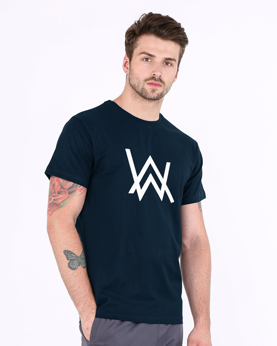 Shop Alan Walker Half Sleeve T-Shirt (GID)-Full