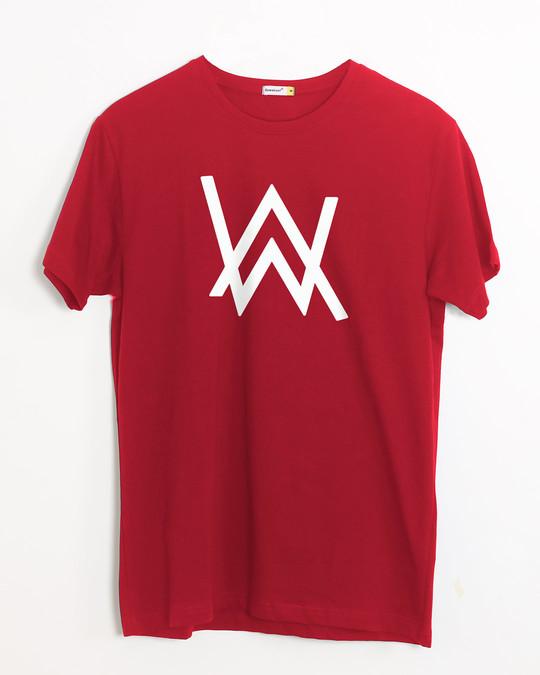Shop A.W. Music Half Sleeve T-Shirt (GID)-Front