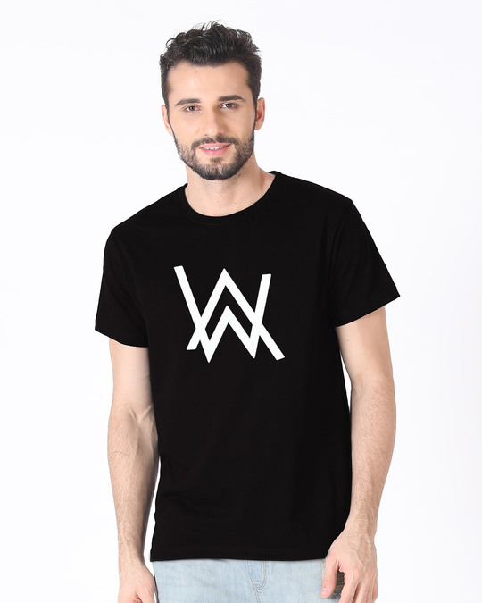 Shop A.W. Music Half Sleeve T-Shirt (GID)-Back