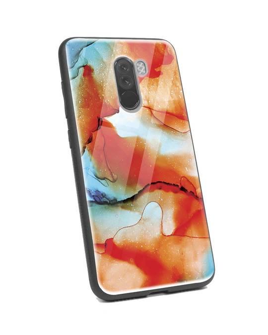 Shop Alcohol Ink Splash Xiaomi POCO F1 Glass Mobile Cover-Back