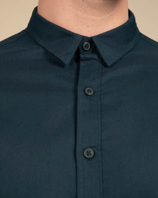 Shop Alice Blue Slim Fit Oxford Full Sleeve Shirt