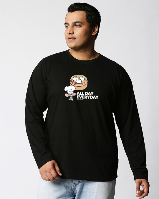 Shop All Day Momos (TJL) Full Sleeves Plus Size T-Shirt-Front