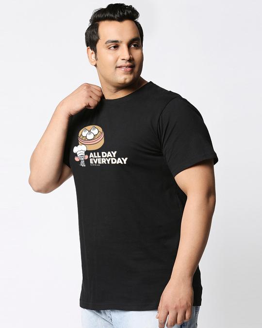 Shop All Day Momos (TJL) Half Sleeve Plus Size T-Shirt-Back