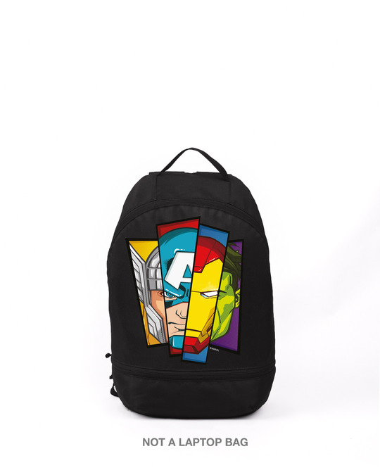 Shop All Hero Face (AVL) Small Backpack Black-Front