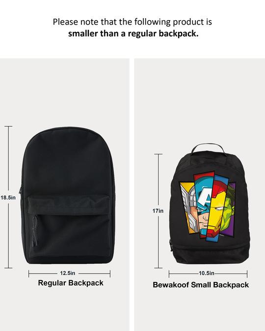 Shop All Hero Face (AVL) Small Backpack Black-Full