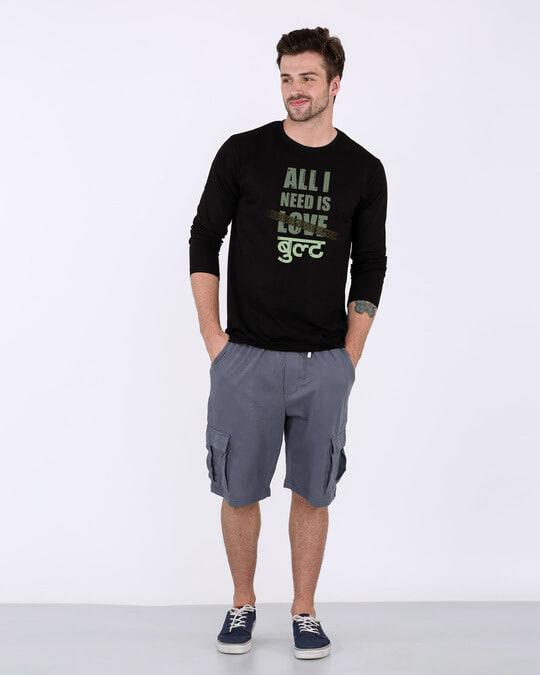 Shop All I Need Is Bult Full Sleeve T-Shirt-Full
