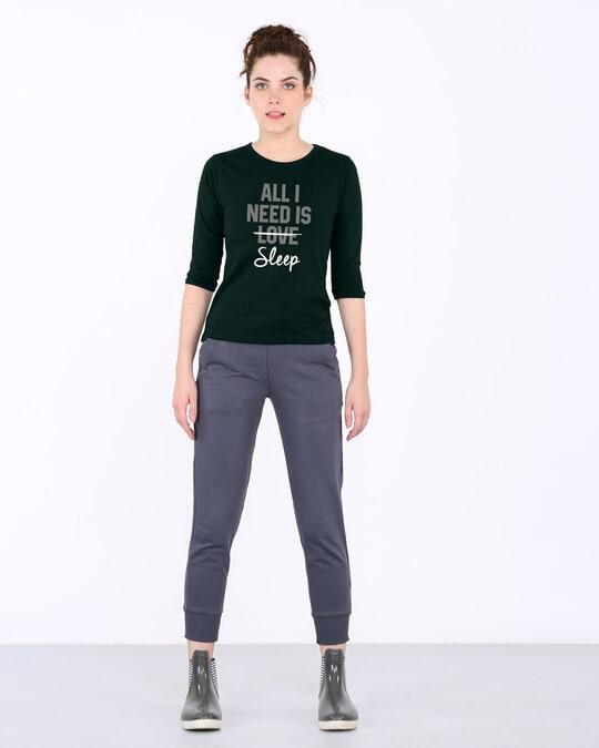 Shop All I Need Is Sleep Round Neck 3/4th Sleeve T-Shirt