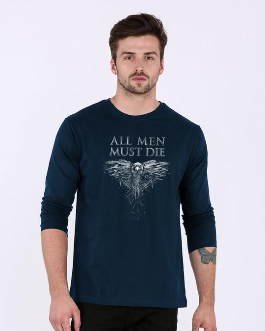 Shop All Men Must Die Full Sleeve T-Shirt (GTL)-Front