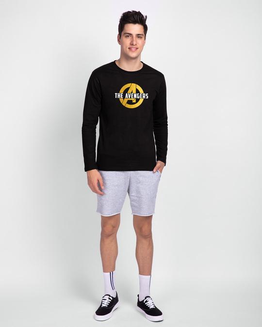 Shop All The Avengers Full Sleeve T-Shirt (AVL) (GOLD PRINT)
