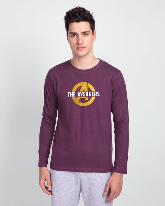 Shop All The Avengers Full Sleeve T-Shirt (AVL) (GOLD PRINT)-Back