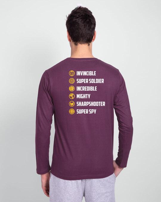 Shop All The Avengers Full Sleeve T-Shirt (AVL) (GOLD PRINT)-Full