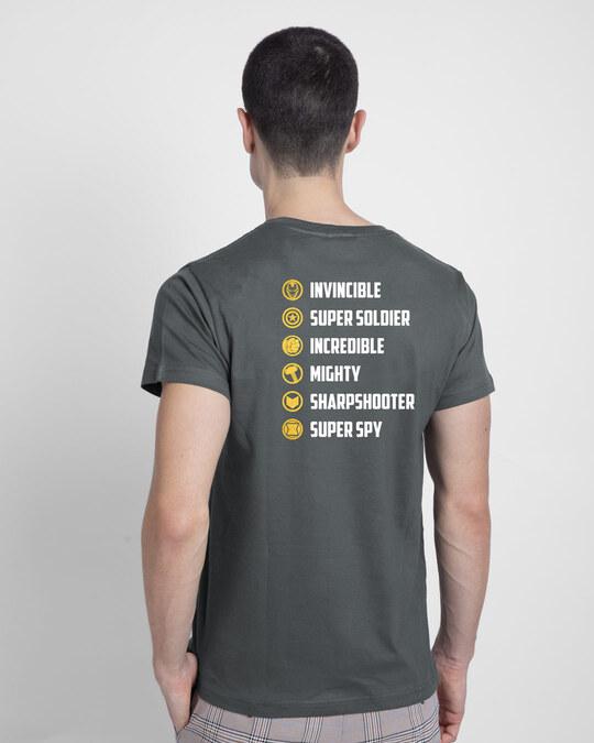 Shop All The Avengers Half Sleeve T-Shirt (AVL) (GOLD PRINT)-Design