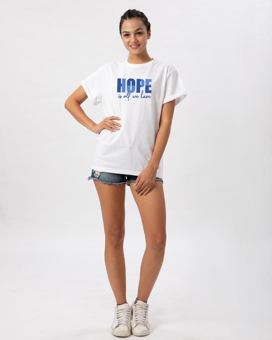 Shop All We Have Boyfriend T-Shirt White-Design