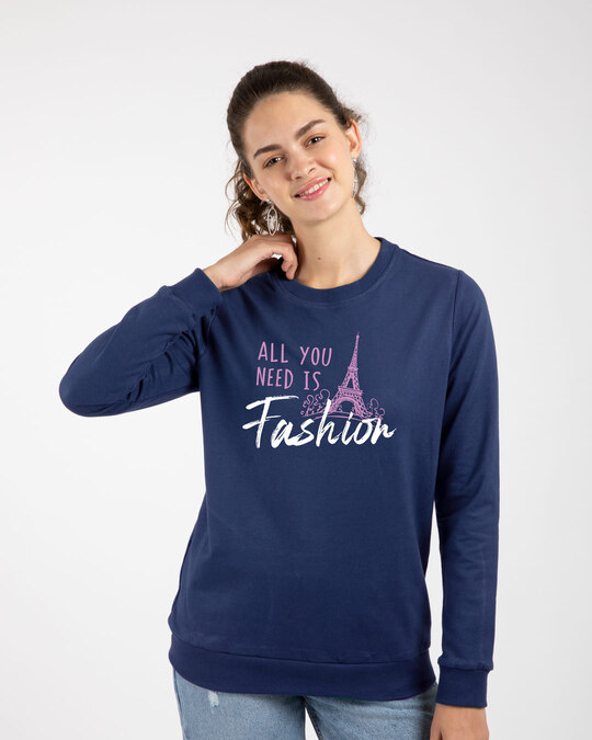 Shop All You Need Is Fashion Fleece Sweaters-Front