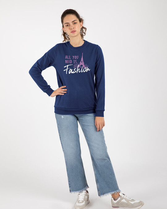 Shop All You Need Is Fashion Fleece Sweaters-Design