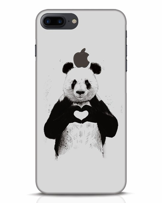 Shop All You Need Is Love iPhone 7 Plus Logo Cut Mobile Cover-Front