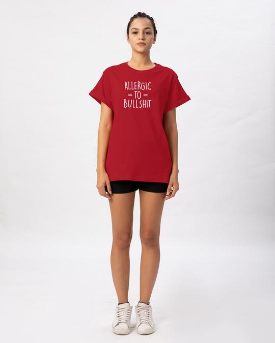 Shop Allergic To Bullshit Boyfriend T-Shirt-Full