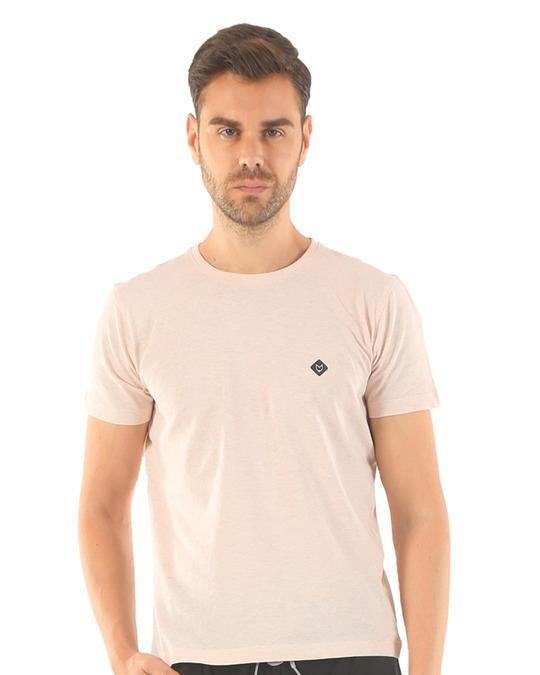 Shop Rico Organic Cotton Melange T Shirts   Off White-Design