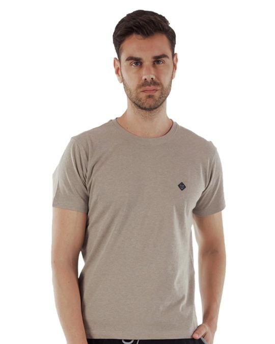 Shop Rico Organic Cotton Melange T Shirts   Off White