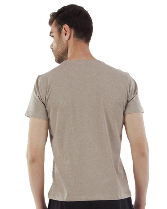 Shop Rico Organic Cotton Melange T Shirts   Peach