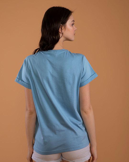 Shop Almost Ready Shinchan Boyfriend T-Shirt (SCL)-Back