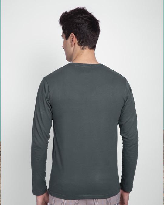 Shop Alpha Full Sleeve T-Shirts Nimbus Grey-Design