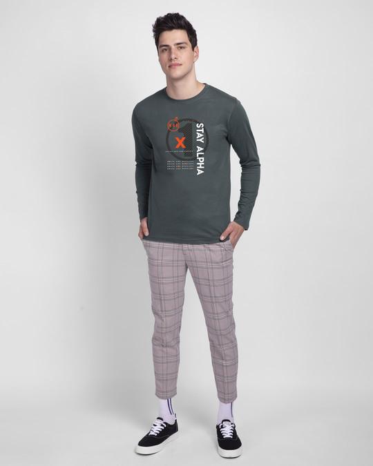 Shop Alpha Full Sleeve T-Shirts Nimbus Grey-Full