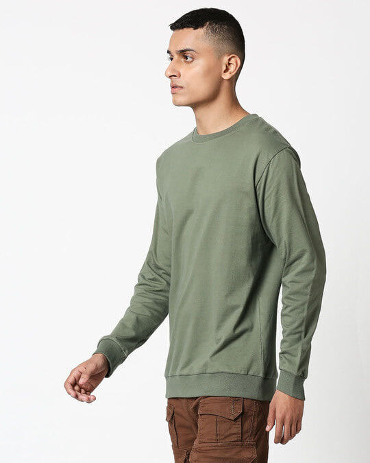 Shop Alpha Green Fleece Sweater-Design