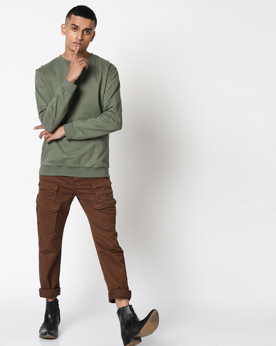 Shop Alpha Green Fleece Sweater