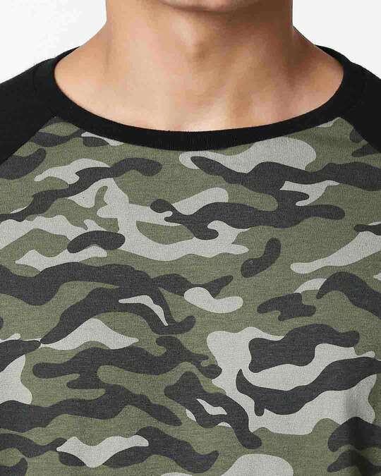 Shop Alpha Green Half Sleeve Raglan T-Shirt