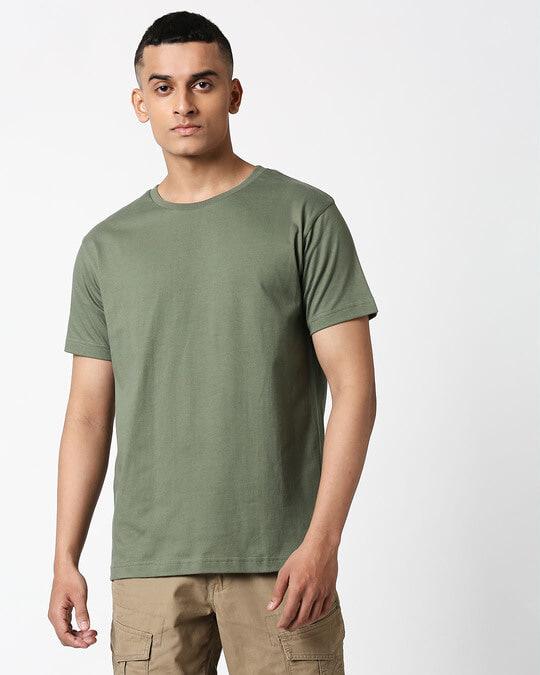 Shop Alpha Green Half Sleeve T-Shirt-Back