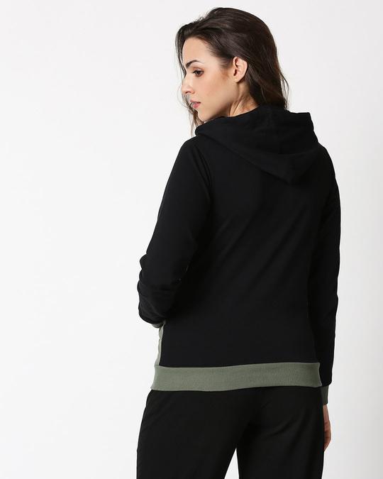Shop Alpha Green Color Block Hoodie-Full
