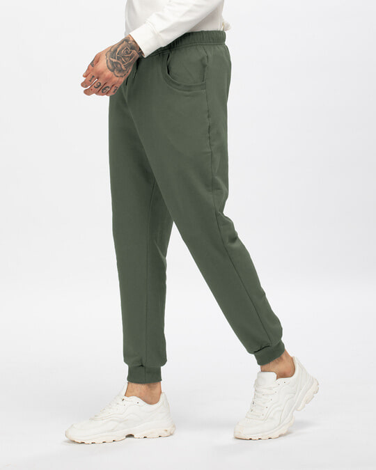 Shop Alpha Green Casual Jogger Pants-Back