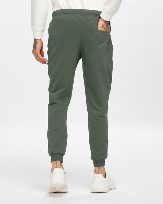 Shop Alpha Green Casual Jogger Pants-Design