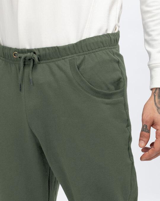 Shop Alpha Green Casual Jogger Pants