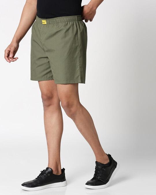 Shop Alpha Green Plain Boxer-Design