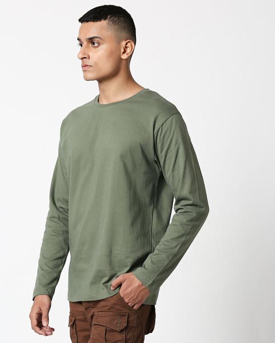 Shop Alpha Green Full Sleeve T-Shirt-Design