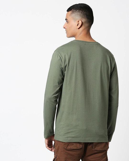 Shop Alpha Green Full Sleeve T-Shirt-Full