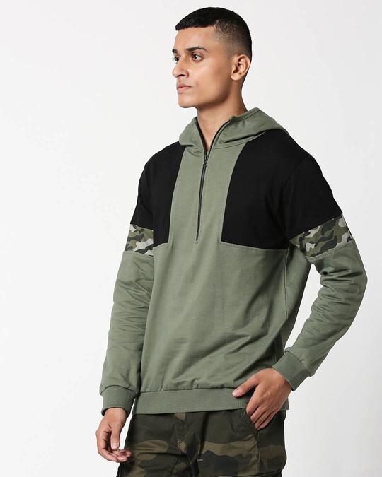 Shop Alpha Green Zipper Hoodie-Design