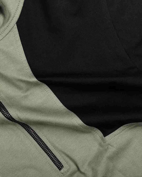 Shop Alpha Green Zipper Hoodie
