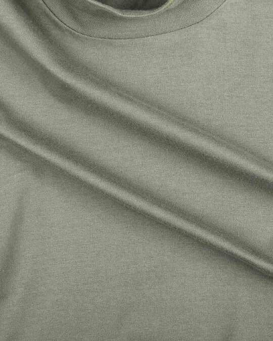 Shop Alpha Green Neck Pocket Dress