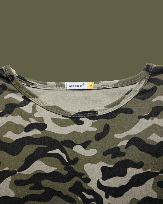 Shop Alpha Green Round Neck Camo Vest-Full