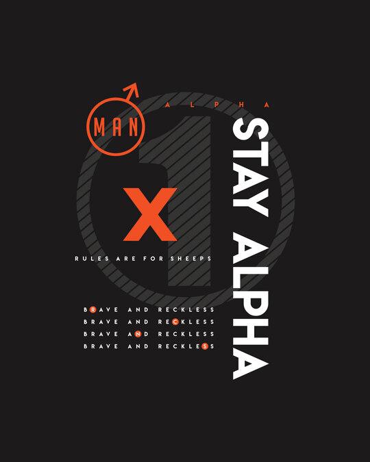 Shop Alpha Half Sleeve T-shirt Black