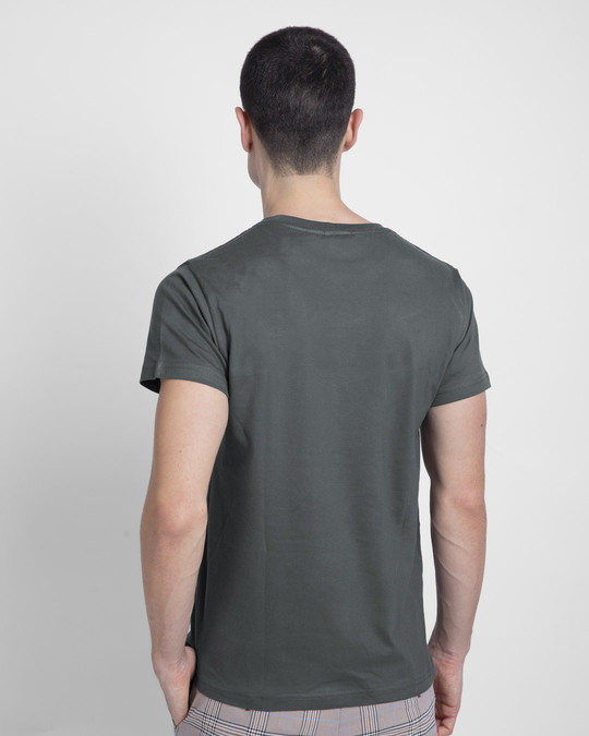 Shop Alpha Half Sleeve T-shirt Nimbus Grey-Back