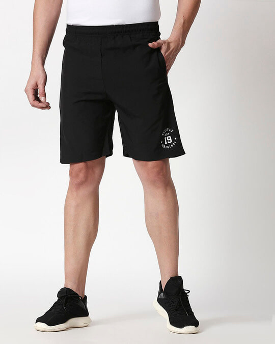 Shop Alstyle | Black Taffeta Shorts-Front