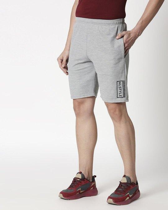 Shop Alstyle | Grey Melange Shorts-Design