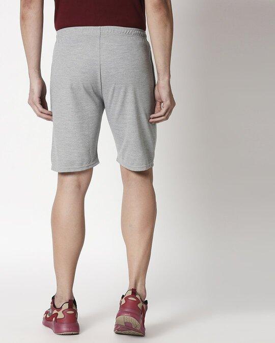 Shop Alstyle | Grey Melange Shorts-Full
