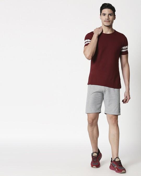 Shop Alstyle | Grey Melange Shorts